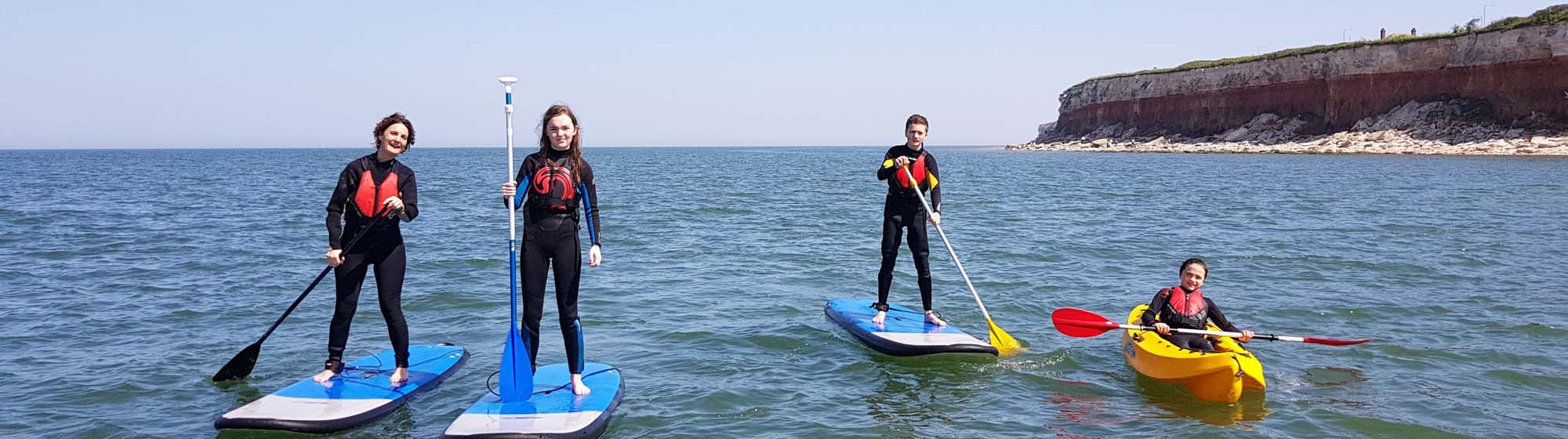 Paddleboarding in the Sun Hunstanton